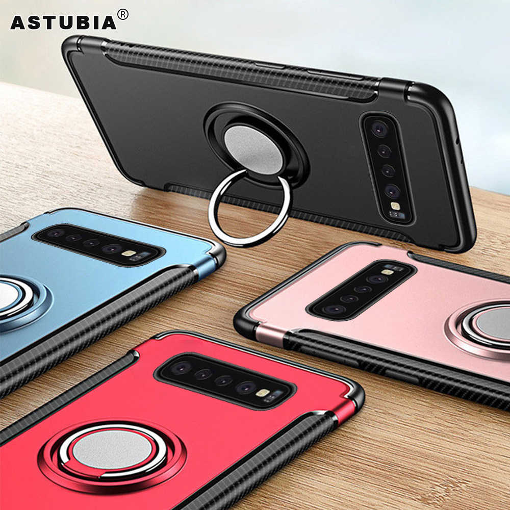 3D Ring Case For Samsung Galaxy S10 Case For Samsung Note 9 Case Magnetic Cover For Samsung S10 S9 S8 J4 J6 A6 Plus 2018 Cover