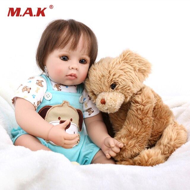 50cm Lifelike Soft Body Bebe Silicone Doll Girl Reborn Dolls Children Toys Gifts