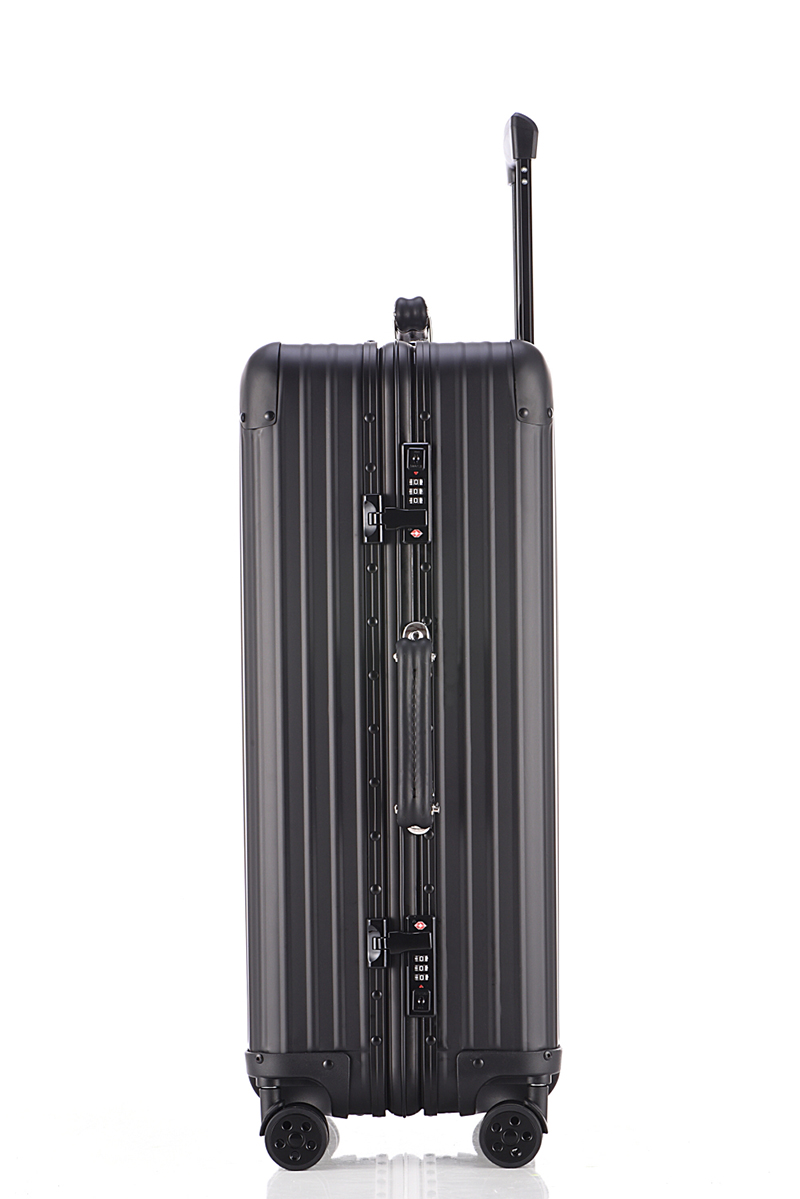 Free shipping 100% aluminium magnesium alloy luggage Universal wheel lockbox metal box Retro black men and women on board box
