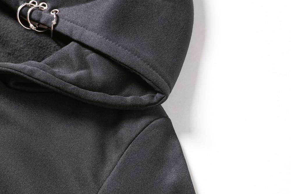 anel camisolas outono inverno manga longa zip-up