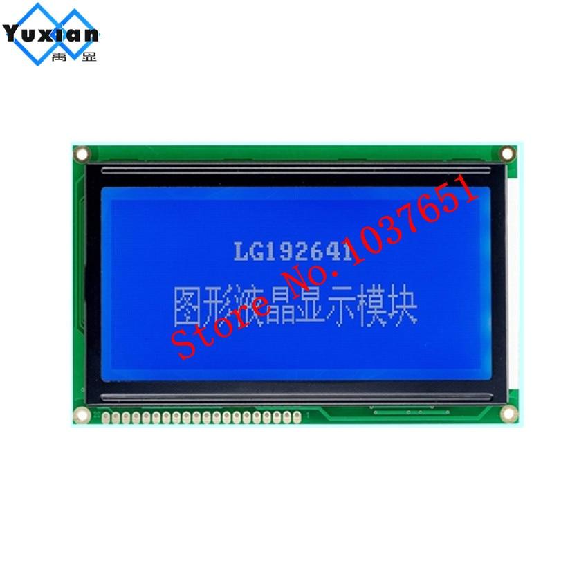 1 Stücke 19264 192x64 Lcd Display Modul 113*71mm 5 V Lg192641 Blau Große Große Größe Gute Qualität Ks0107 S6b0107 Nt7108c