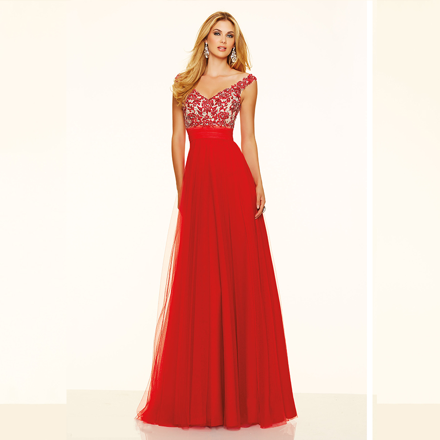 Plus Size Red Formal Evening Dresses
