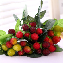 Новая искусственная пена ягода клубника поддельная имитация тутового ягод поддельные Bayberry фрукты дикого стекла Фрукты Вишня 1 букет 9 голов