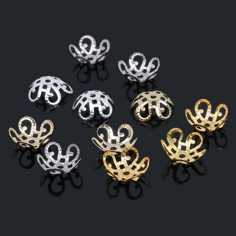 US $0.98 10% OFF|New 100pcs/lot 2017 High Quality DIY 4colors  Plated Hollow Flower Metal Charms Bead Caps for Jewelry Making 10mm-in Jewelry Findings & Components from Jewelry & Accessories on Aliexpress.com | Alibaba Group