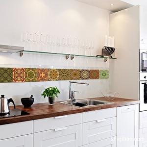 Image 1 - Funlife Islamic Arab Style Tile Sticker Decal,Adhesive Kitchen Backsplash Tiles Wall Stickers,Waterproof Bathroom Decor Stickers