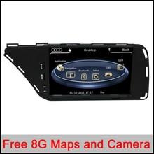 7 Pulgadas de Pantalla Táctil Digital de Coches Reproductor de DVD GPS Para Audi A4/A5/Q5 (2009-2015) con la Navegación/Bluetooth/Mantenga CD original, Radi