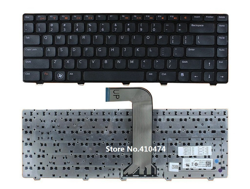 US Keyboard for Dell Inspiron M4040 M4110 N4050 N4110 14R 3420 15 3520 5420 7420 XPS L502X Vostro 1540 2520 3450 3550 3555