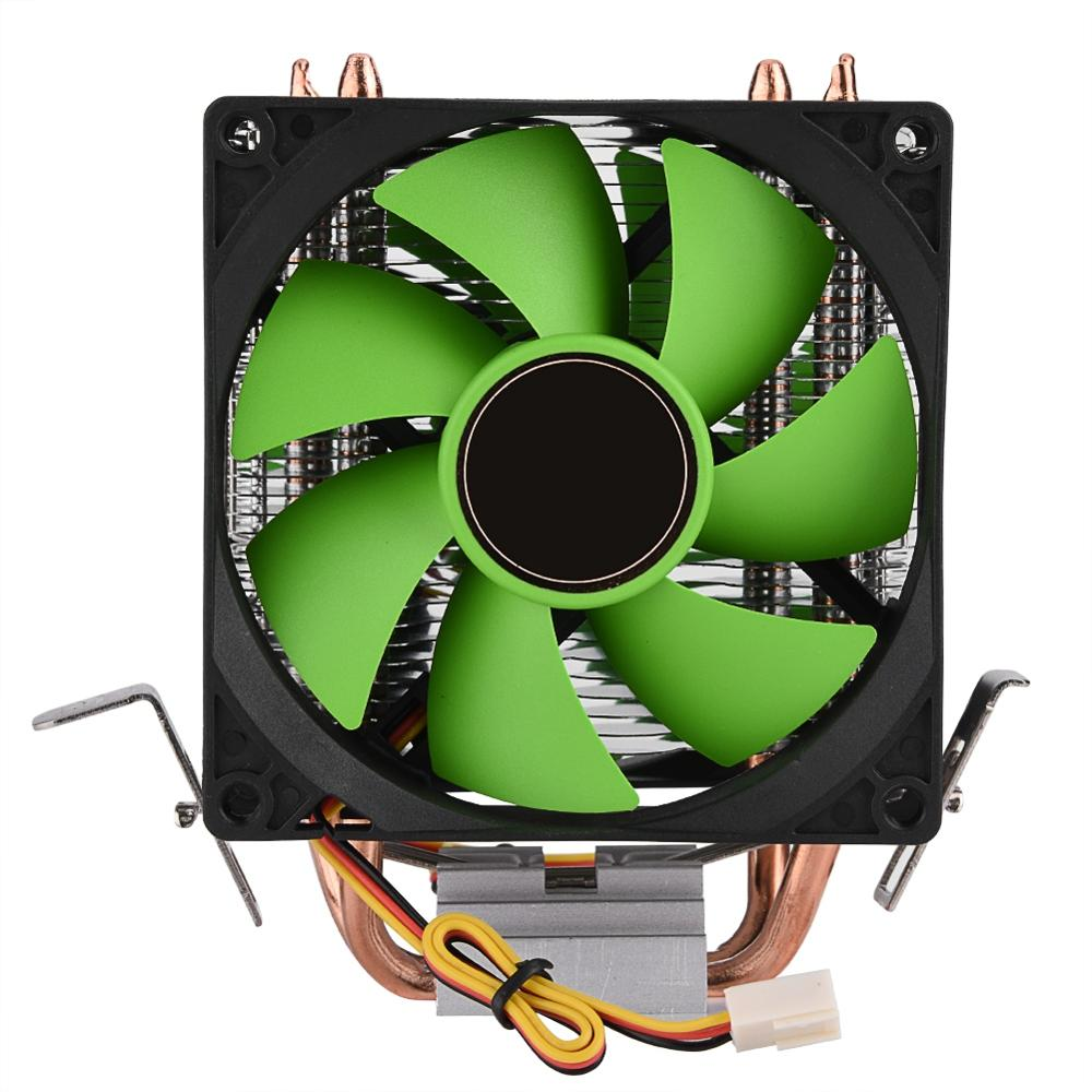 Image 2 - 90mm 3Pin CPU Cooler Heatsink Quiet fans for Intel LGA775/1156/1155 for AMD AM2/AM2+/AM3 Dual sided Fan Free Shipping cpu fan-in Fans & Cooling from Computer & Office