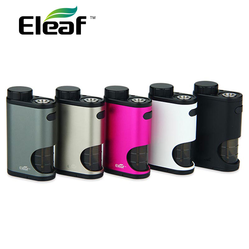 Original 50W Eleaf Pico Squeeze Box MOD w/ Refillable Squonk Bottle of 6.5ml Large Capacity for Coral RDA Atomizer No Battery