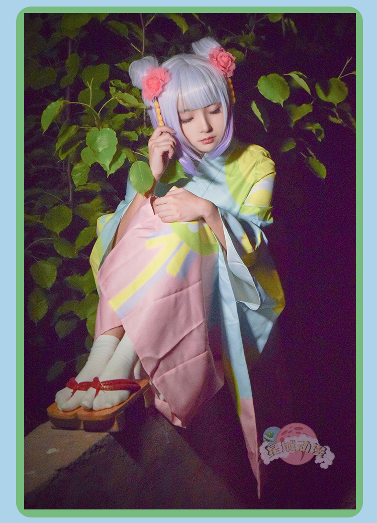 Japan Anime kimono costume Miss Kobayashi's Dragon Maid Kobayashi-san Chi no Meidoragon Kanna Kamuy cosplay Halloween girls  cos