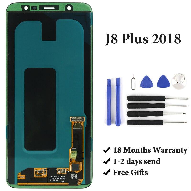 OEM d'origine pour Samsung J8 Plus 2018 écran LCD pas de Pixel mort AMOLED écran tactile avec assemblage de numériseur pour Samsung J805 LCD