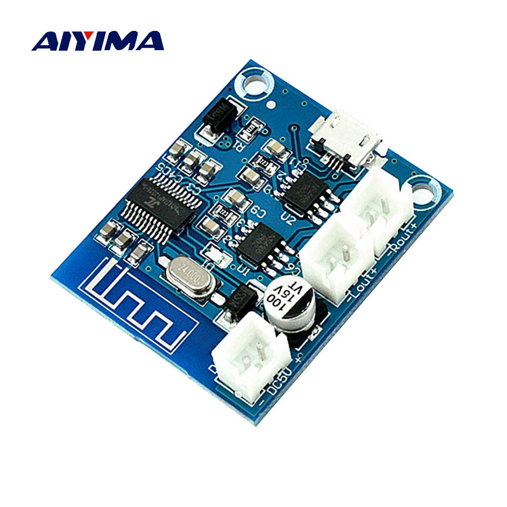 AIYIMA Stereo Bluetooth 4.2 Power Amplifier Audio Board 5W*2 Sound Amplifiers With Charging DIY Modified Speaker