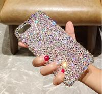 For LG G5 G6 G7 G8 G8S ThinQ Q7 Q6 K40 K8 K10 2017 V10 V20 V30 Q Stylo 4 Rhinestone Case Full Diamond Cover Handmade