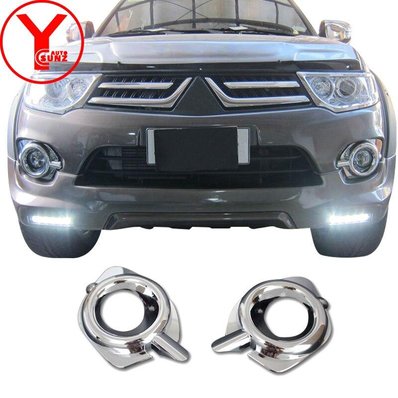 For Mitsubishi Pajero Montero Sport Suv Fog Lamp Light Cover Chrome on 2015-2017