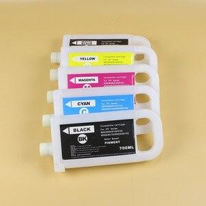 Image 2 - 5 renkler için 700ml PFI 307 dolum mürekkep Canon için kartuş IPF830 IPF840 IPF850 PFI 707 mürekkep kartuşu PFI 307 çip