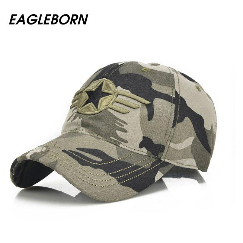 Prix pour Eagleborn marque nouvelle 2017 nouvelle armée casquette de baseball hommes loisirs chapeaux étoiles broderie cap pour hommes et femmes bonnet de coton réglable