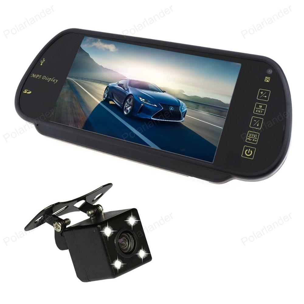 7 дюймов TFT lcd автомобильные мониторы MP5 2 AV вход поддержка SD/USB FM радио с 4 светодиодный ночного видения Обратный CCD парковочная камера