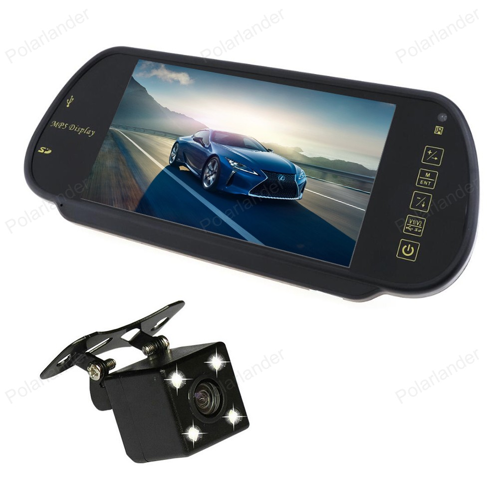 7 Inch TFT LCD Car <font><b>Monitors</b></font> MP5 2 AV input Support SD/USB FM Radio With <font><b>4</b></font> LED night vision Reverse CCD Parking Camera image