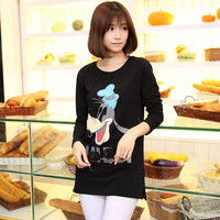 2017 Brand Women Shirts Mickey Goofy Tops Girls Fashion Tops T Shirts Women Clothing