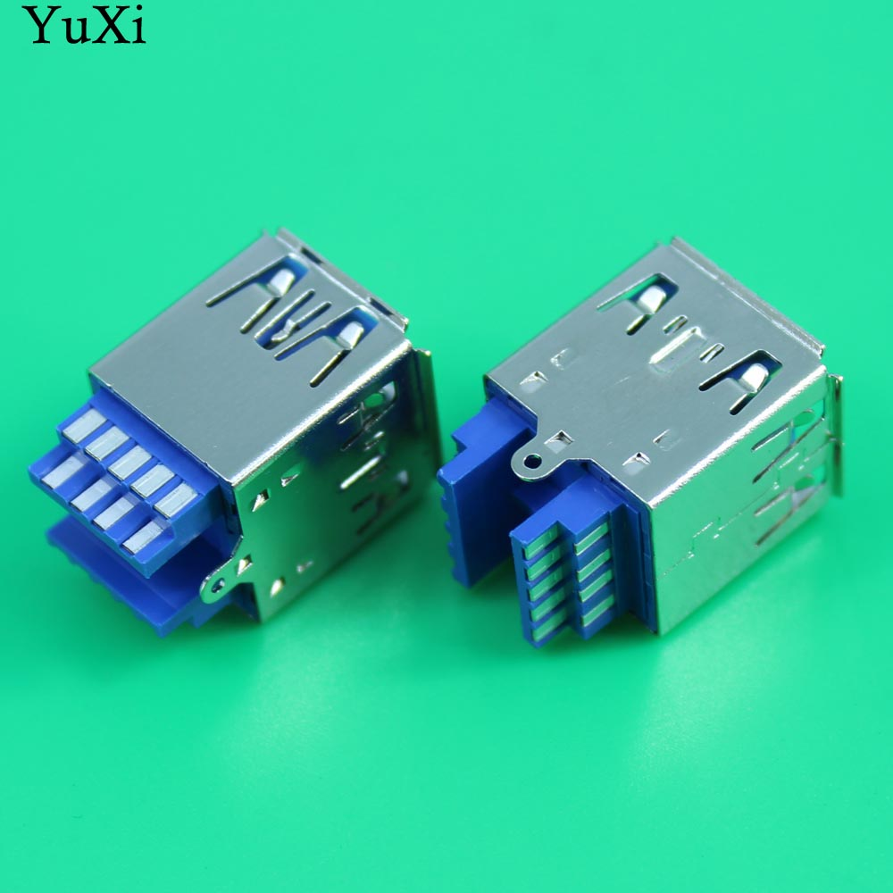 YuXi New Double USB 3.0 Connector USB Socket Two-layer USB3.0 Female Jack AF Type