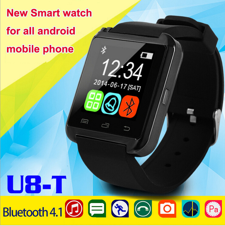 ФОТО Brand New U-8T Smartwatch Mini Portable Bluetooth Smart Watch Phone Wristwatch for Android Mobile Samsung S3 S4 S5 Etc