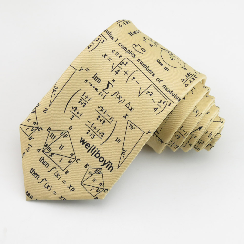 Yellow Tie Male 8CM Tie Necktie For Mathematics Design Men's Light Yellow Business Dress Bow Tie