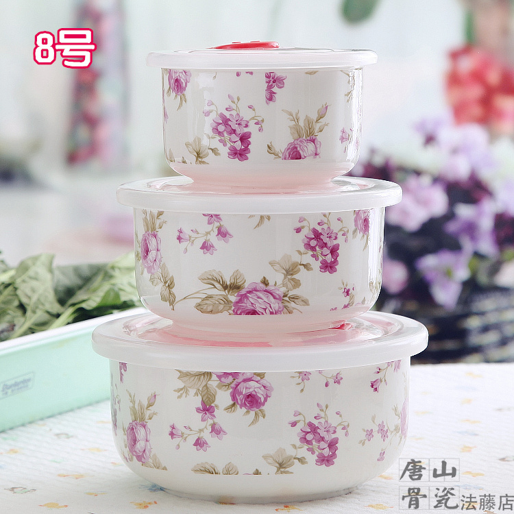 Three piece set fine bone china lunch box set japanese for Decor 6 piece lunchbox