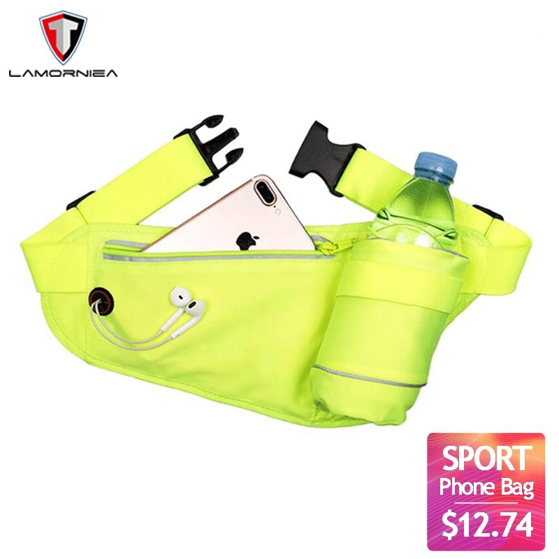 Sports Bottle Phone Case: Lamorniea Luminous Running Phone Bag Outdoor Phone Case