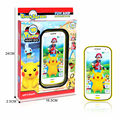English touch screen Cartoon pokemon toy phone educational Electronic Toys music mobile phone baby phone with music and light