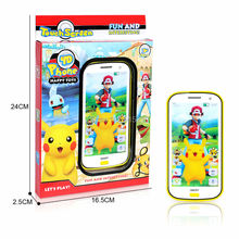 English touch screen Cartoon pokemon toy phone educational Electronic Toys music mobile phone baby phone with