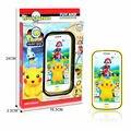 Pantalla táctil de teléfono de juguete de Dibujos Animados pokemon inglés educativos Juguetes Electrónicos teléfono móvil de la música del bebé teléfono con música y luz