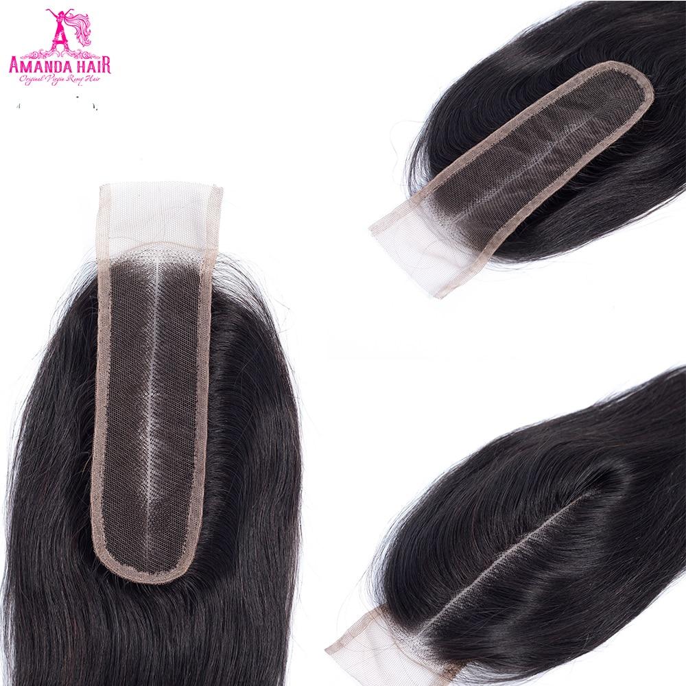 Amanda Kim K Closure Middle Part Straight Hair Lace Closure 4x4 5x5 Straight  Melt Skins Hd Transparent Lace Closure 4