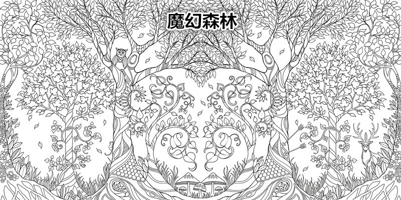 Original English Secret Garden Enchanted Forest Coloring Book