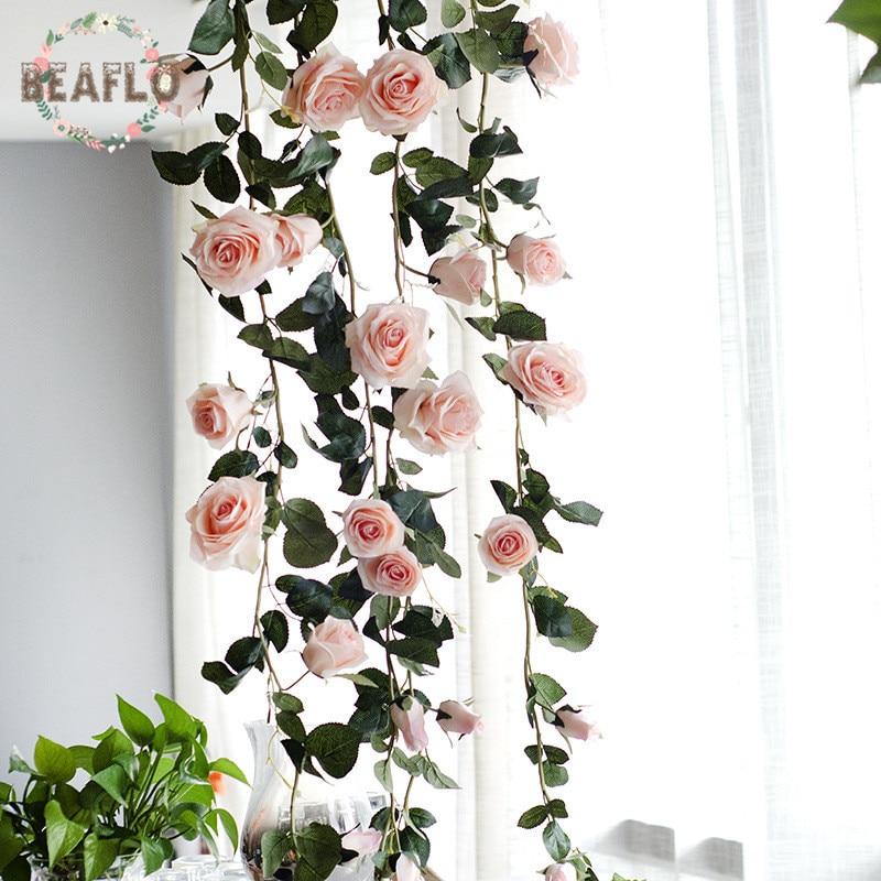 1PC European Artifical Flowers Australia Rose Vine Rattan Silk Flower Wedding Party Home Decorative 1 8m