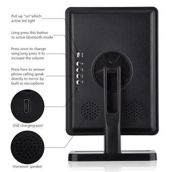 Bluetooth динамик светодиодный сенсорный экран зеркало для макияжа с 10X лупой 20 светодиодный S освещенное косметическое регулируемое туалетное ...