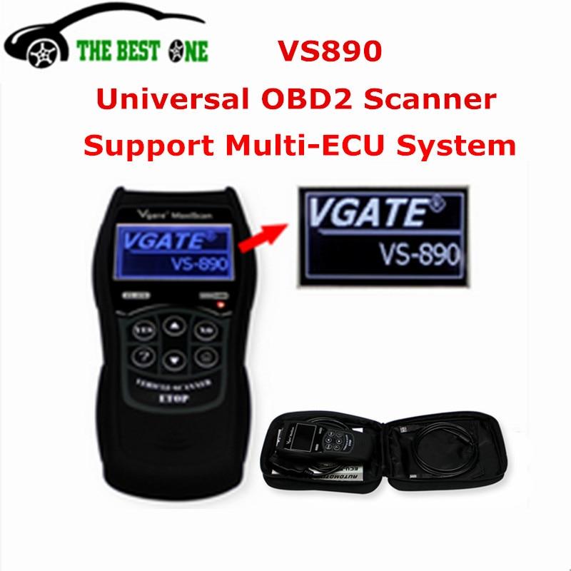 Цена за Низкая цена Высокое качество Vgate VS890 OBD2 Code Reader VS 890 универсальный диагностический сканер vs-890 полный can-автобус Поддержка для новых автомобилей
