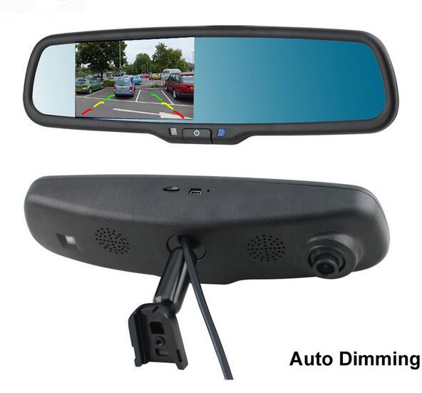 Auto Dimming Full HD 1080P 4 3 TFT LCD Car original special Bracket DVR Rearview Parking