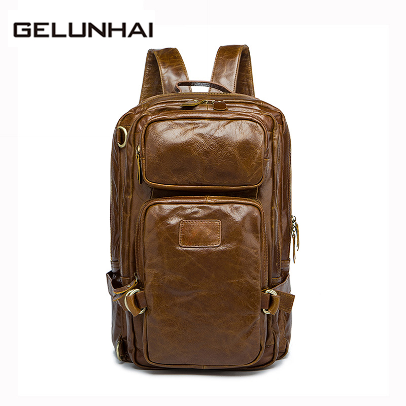 Mochila Escolar Real 2017 Genuine Leather Men Bag Large Travel Backpacks High Quality Multifunctional Man Backpack Laptop Male men backpack student school bag for teenager boys large capacity trip backpacks laptop backpack for 15 inches mochila masculina