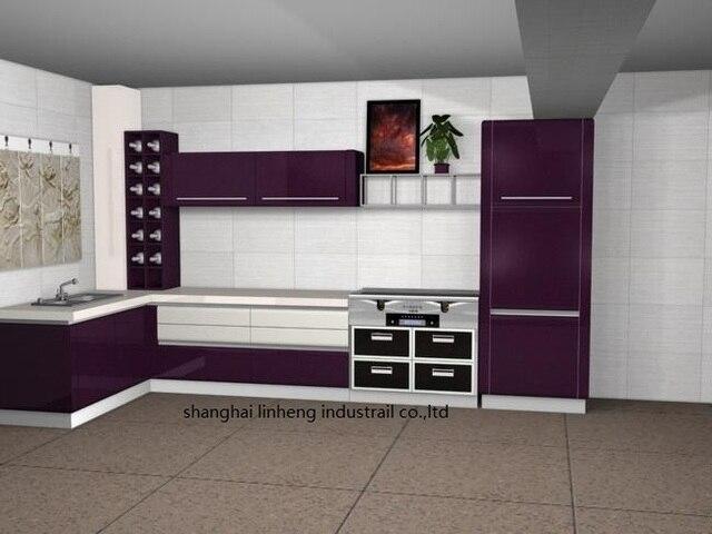 מבריק/mordern לכה ארון המטבח (LH-LA025)