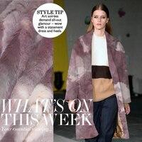 Tie Dye Department Of Fashion Style Imitation Mink Wool Fabric