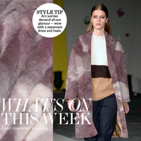 free shipping! Dyeing imitation mink wool fabric winter coat jacket warm diy fabrics wholesale high quality cloth
