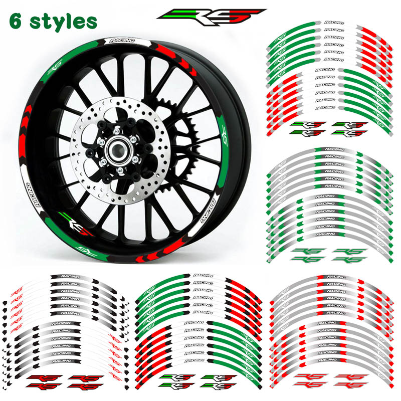 Hot Sell Motorcycle 17inch Wheel Sticker Decal Reflective Rim Bike Suitable For APRILIA RS125