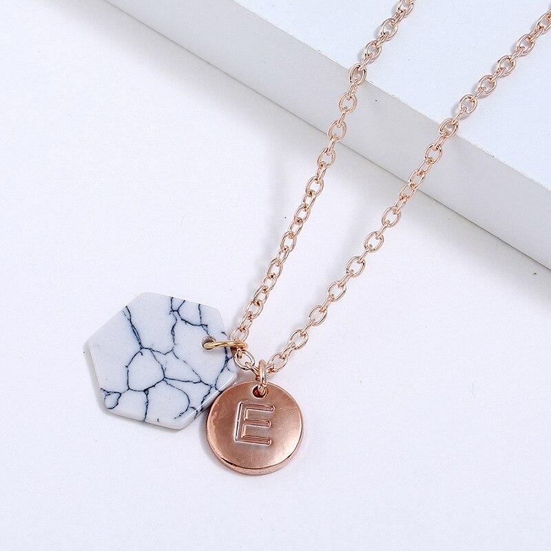 Новая Мода Круглый начальный Два кулон начальный письмо ожерелье личность ожерелье Имя Ювелирные изделия друзья подарок pulseira feminina