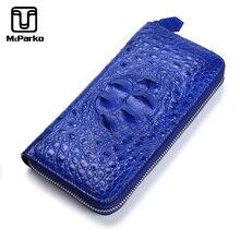 McParko véritable portefeuille Crocodile femmes en cuir pochette portefeuille de luxe portefeuille porte cartes femme élégante petite amie femme cadeau sac à main
