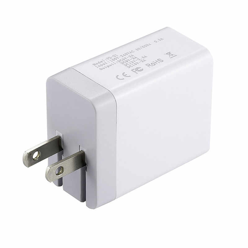 US Plug PD Type-C Output, phone fast charger Adapter,Compatible country  United States Japan Canada Brazil etc
