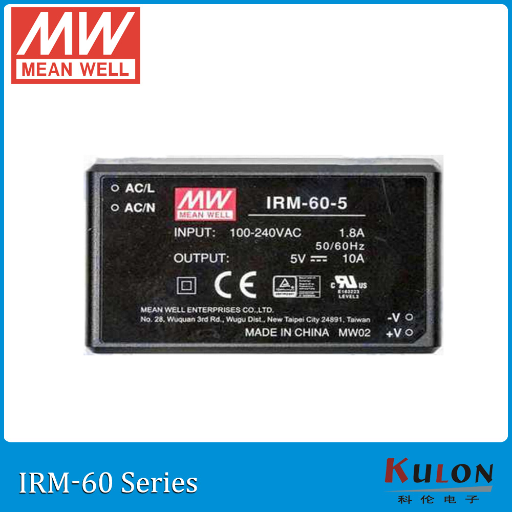 Original MEAN WELL IRM-60-48 single output 1.25A 48V 60W PCB module meanwell power supply IRM-60 цена