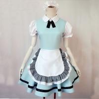 Maid outfit cosplay lolita dress cute sweet anime costume lolita Hatsune restaurant clothing