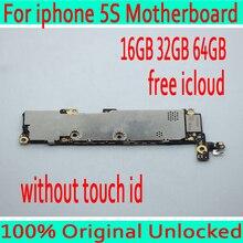 Оригинальный разблокирован для iphone 5S материнская плата без Touch ID, для iphone 5S материнская плата с чистой iCloud, 16 ГБ/32 ГБ/64 ГБ
