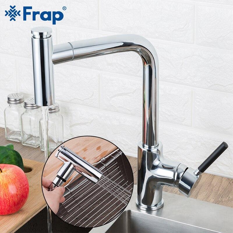 Robinet de cuisine FRAP robinet mitigeur de cuisine 2 fonction bec robinets d'eau froide et chaude robinet évier grifo cocina