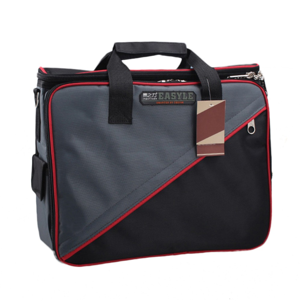 Tool Belt Bags Oxford Cloth Tools Bag Top Wide Mouth Electrician Bags Workpro Ferramentas Electrician-tool-kits 12 33x9x24cm multifunctional waterproof electrical bag tools case oxford bag electrician repair canvas tool bag tool kit